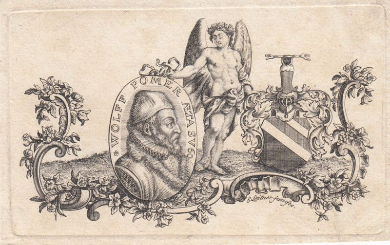Wolff Pömer (1536-1601) Nürnberger Patrizier Orig Kupferstich S. Leitner 1594
