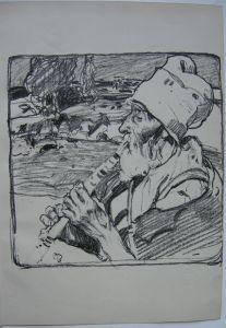 Frank Brangwin (1867-1957) The Goat-Herd Orig Lithografie 1897 The Studio
