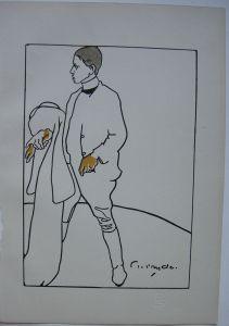 James Pryde (1866-1941) Portrait W. Nicholson Orig Lithografie  1897 The Studio