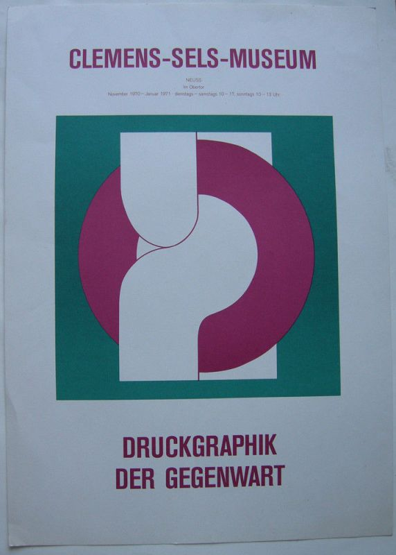 Friedrich Gräsel (1927-2013) Plakat Ausstellung Neuss 1970 Serigrafie