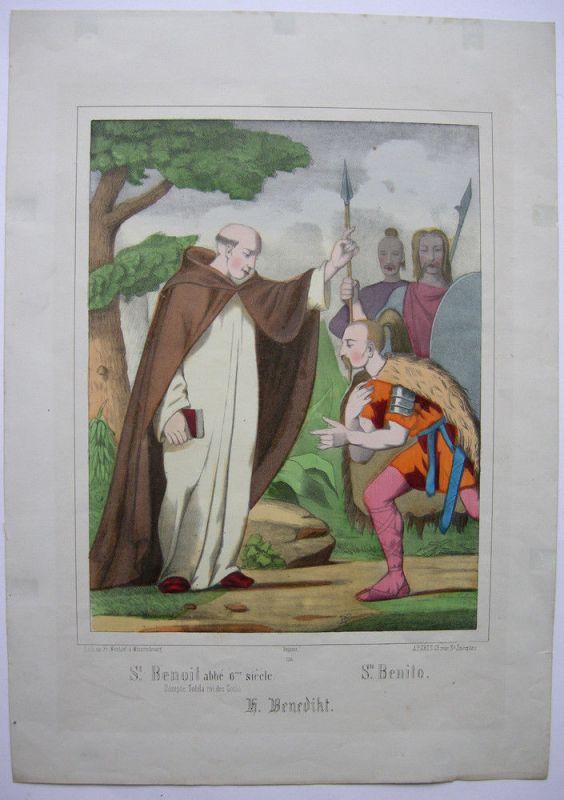 Enthauptung St. Denis Dionysius Farlblithographie 1880 N 736 Imagerie populaire