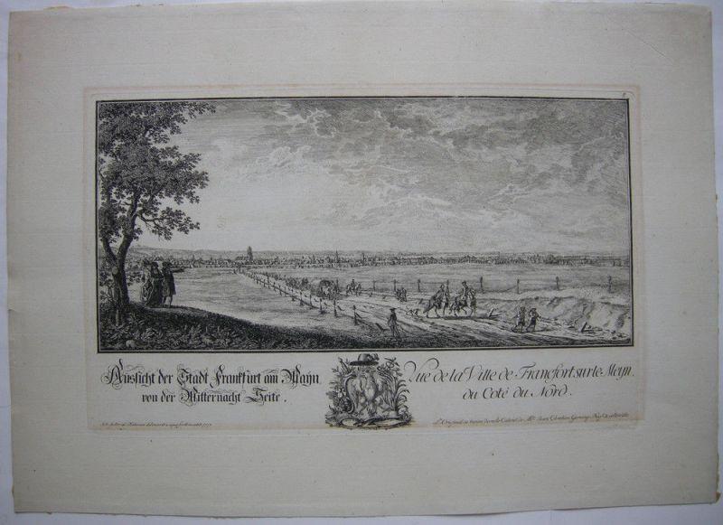 Joh Jak Koller (1746-1806) Frankfurt Mitternacht Seite Orig Radierung 1777 0