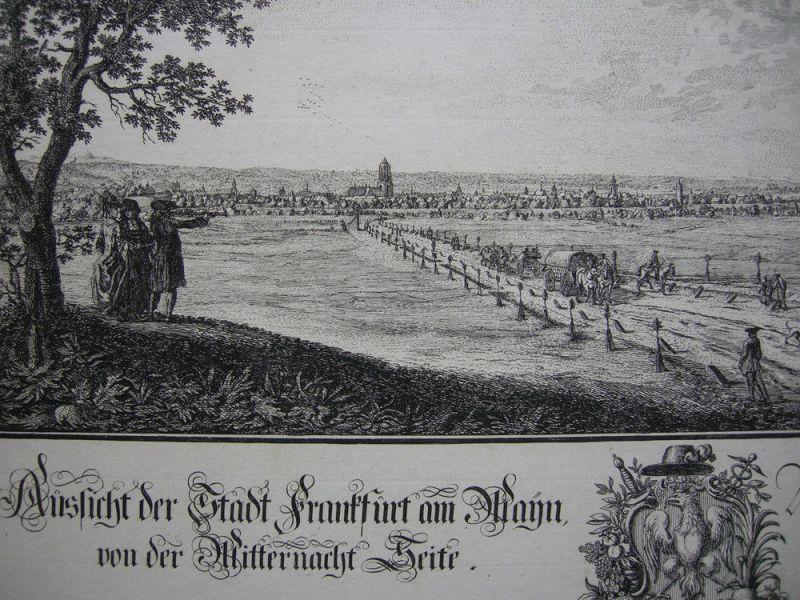 Joh Jak Koller (1746-1806) Frankfurt Mitternacht Seite Orig Radierung 1777 2