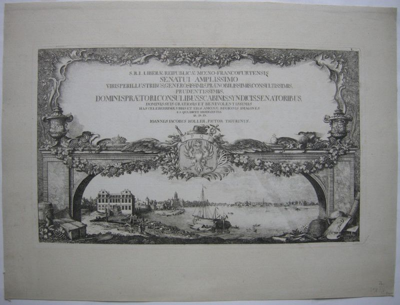 Joh Jak Koller (1746-1806) Äußere Prospekte Frankfurt Orig Radierugn 1777 Titel