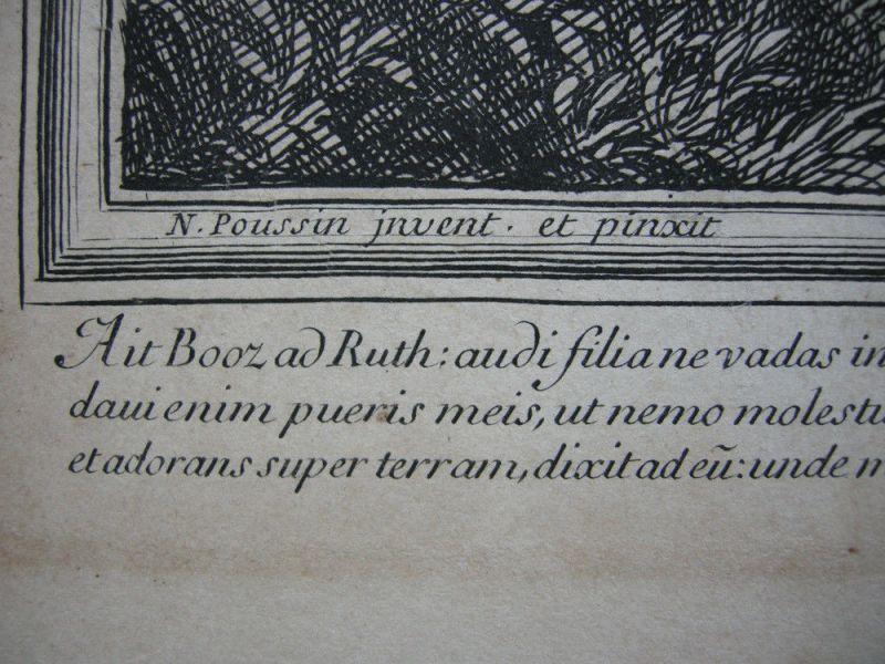 Jean Pesne  (1623-1700) Jahreszeiten Sommer Poussin Orig Kupferstich 1690 4