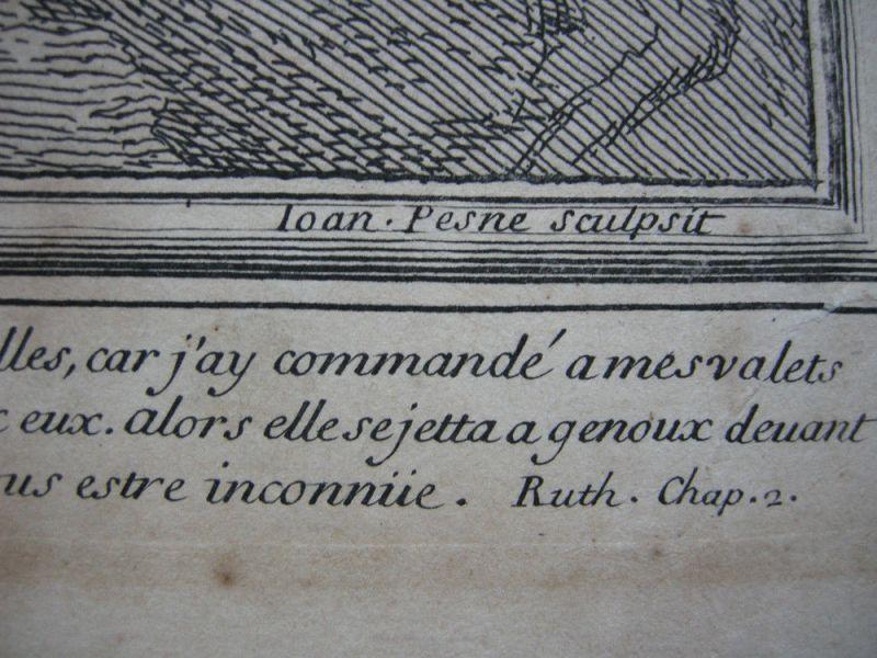 Jean Pesne  (1623-1700) Jahreszeiten Sommer Poussin Orig Kupferstich 1690 5