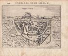 Würzburg Gesamtansicht Orig. Kupferstich Peter Bertius 1616 Unterfranken Bayern
