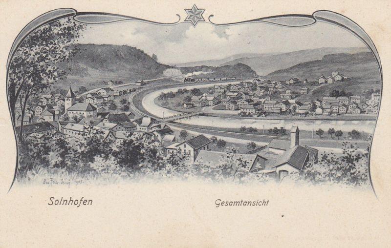 AK Solnhofen Gesamtansicht Weißenburg-Solnhofen Litho ungel 1910 Mittelfranken