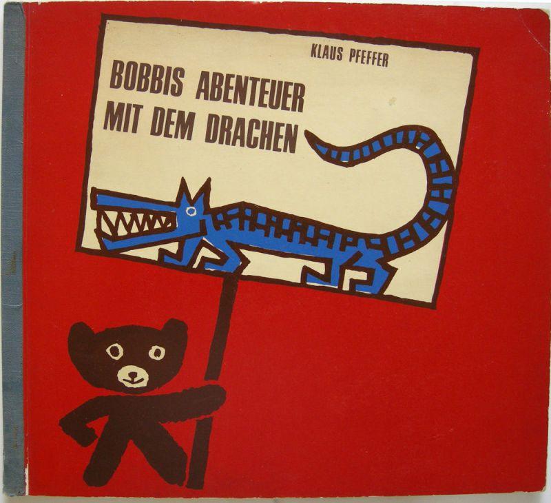 Klaus Pfeffer Bobbis Abenteuer mit dem Drachen 8 Orig Serigraphien 1965