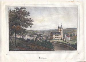 Barmen Wuppertal Gesamtansicht Orig. Farblithografie 1839 Nordrhein-Westfalen