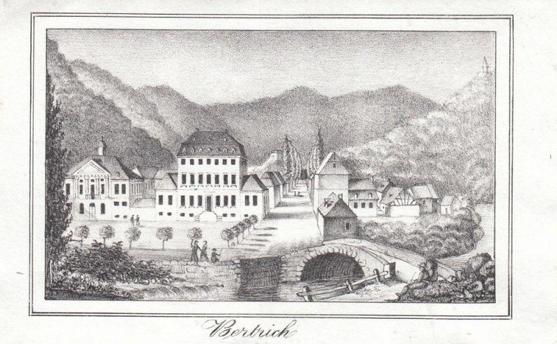 Bad Bertrich Eifel Cochem-Zell Rheinland-Pfalz Orig Lithografie 1840