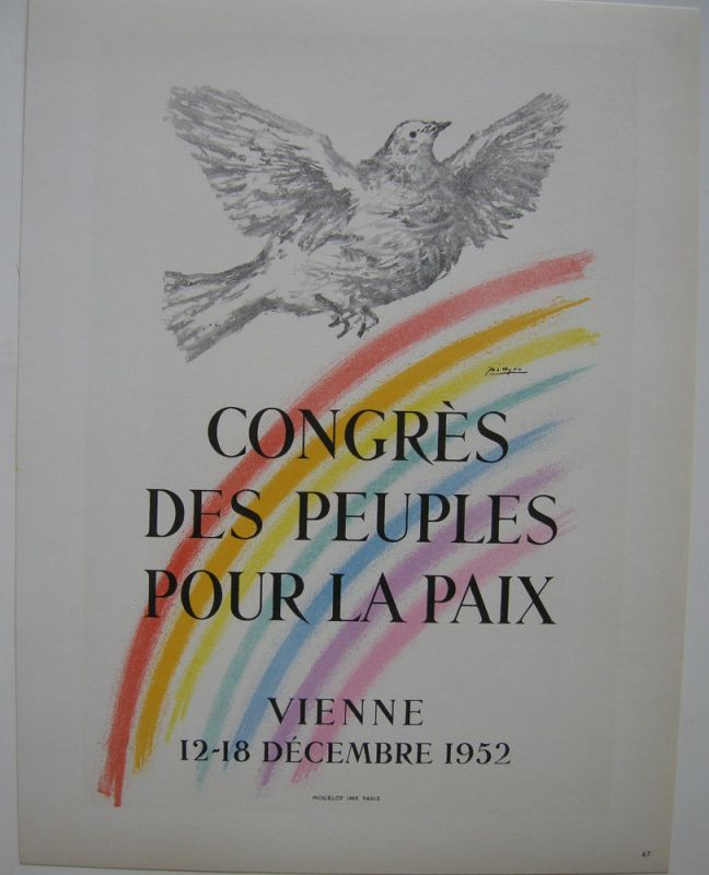 Pablo Picasso Peuple pour la paix 1952 Orig Lithografie Maitres de l'Ecole 1959