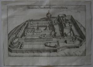 Plassenburg Kulmbach Oberfranken Orig Kupferstich Merian 1648