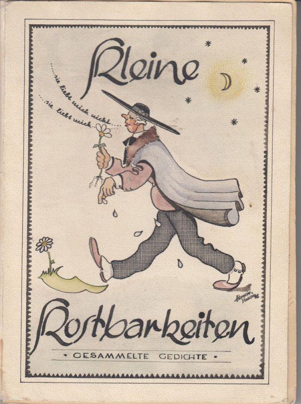 Kleine Kostbarkeiten Gedichte Manuskript Aquarelle Kalligraphie 1948 Unikat