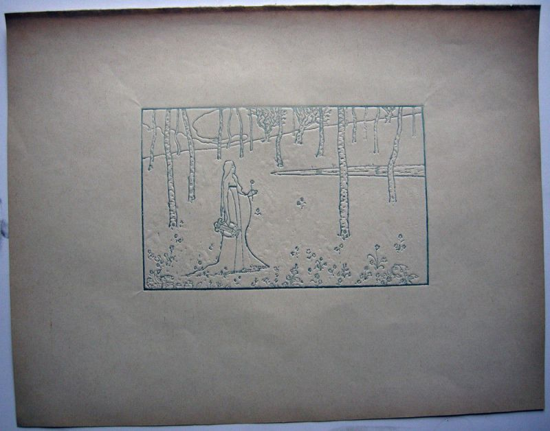 Maurice Dumont (1869-1899) Sappho Orig Clyptografie 1895 Jugendstil