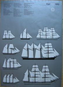 Olympische Spiele Kiel 1972 Segelschulschiffe Orig. Serigrafie 1972 Olympia