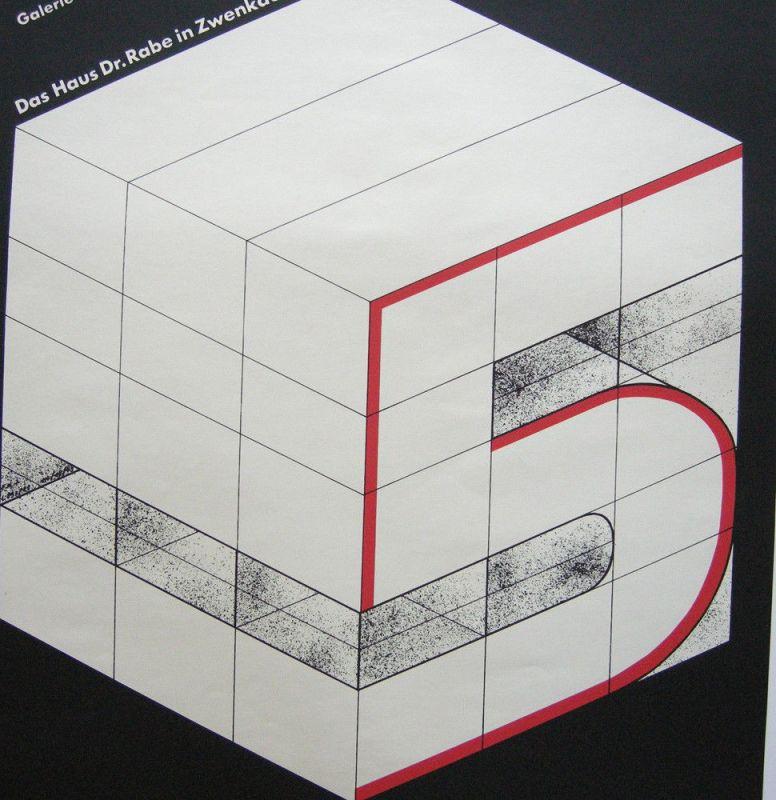 Plakat Bauhaus 5 Galerie am Sachsenplatz Leipzig 1982 Haus Rabe Zwenkau 1