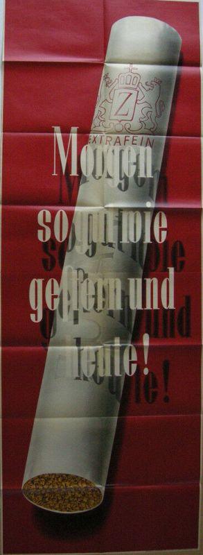 Plakat Zigarettenwerbung Zuban  Orig Lithografie 1953 Orienttabak