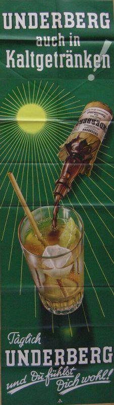 Plakat Reklame Täglich Underberg Orig Lithografie 1953 Spirituosen