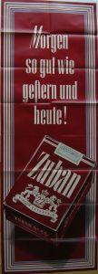 Plakat Zigarettenwerbung Zuban Packung Orig Lithografie 1953 Orienttabak
