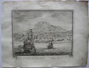 Bandar Abbas Iran Persien Gesamtansicht Orig Kupferstich Peter Schenk 1702