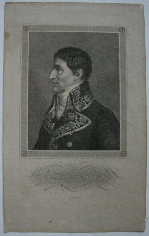 Lucien Napoleon (1775-1840) Französischer Politiker Bruder Napoleons Stahlstich