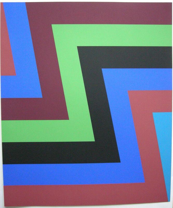 Howard Mehring (1931-1978) Nachmalerische Abstraktion Orig Serigrafie 1970 sign