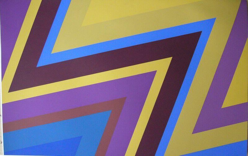 Howard Mehring (1931-1978) Geometrische Abstraktion Orig Serigrafie 1970 sign