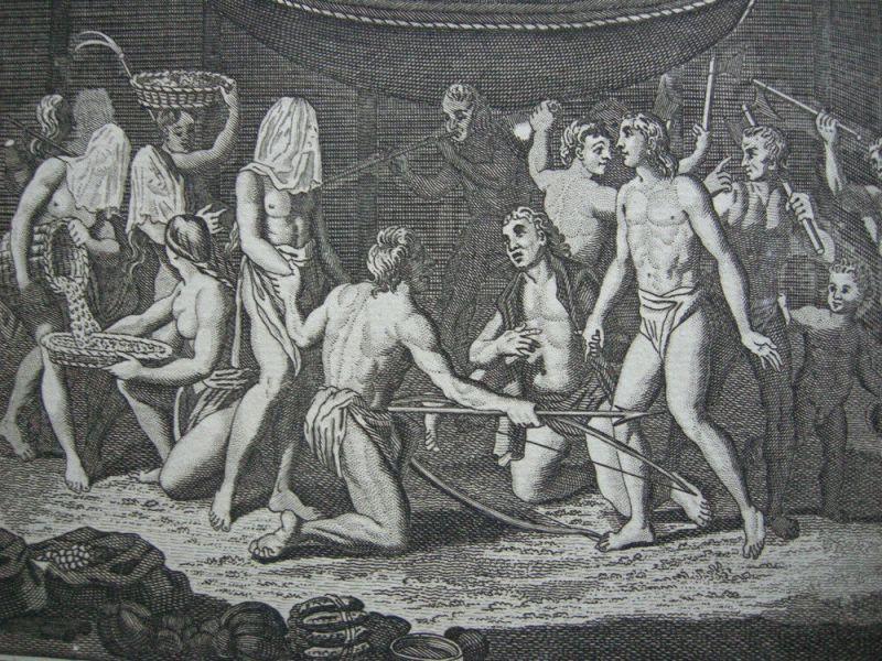 Hochzeitszeremonie Marriage Ceremonies Indianer Panama Orig. Kupferstich 1782 1