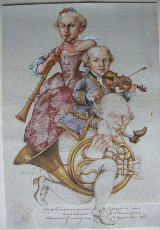 Michael Mathias Prechtl Mozart Schwester Vater Orig. Offset Plakat 1983 0