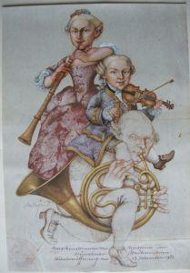 Michael Mathias Prechtl Mozart Schwester Vater Orig. Offset Plakat 1983