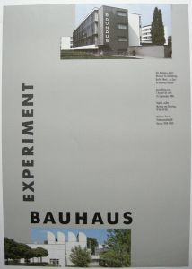 Plakat Experiment Bauhaus Bauhaus-Archiv Dessau Ausstellung 1988