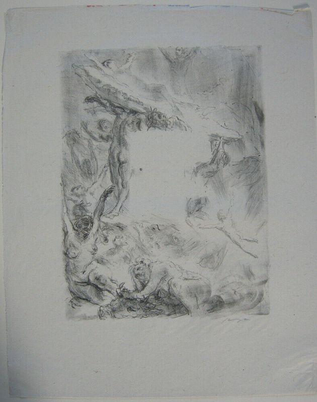 Max Slevogt (1868-1932) Heil dem Meere Orig Lithografie signiert 1920