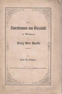 Sauerbrunnen von Giesshübl König Otto Queller 1855 lithografierte Ansicht