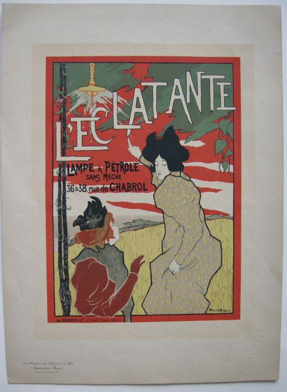 Manuel Robbe L'Eclatante Lampe a Petrole Lithografie Maitres de l'affiche 1900