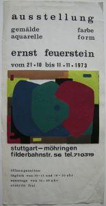 Ernst Feuerstein (1899-1988) Ausst Plakat Stuttgart Orig Serigraphie 1973
