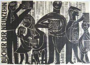 HAP Grieshaber Bücher der Neunzehn Orig Plakat Holzschnitt 1964