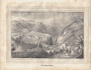 Constantine Tunesie Tunesien Afrika Orig Lithografie 1840