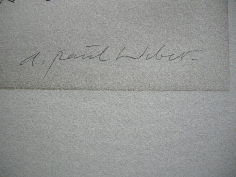 A. Paul Weber (1893-1980) Nächster Schachzug Orig Lithografie 1960 signiert 2