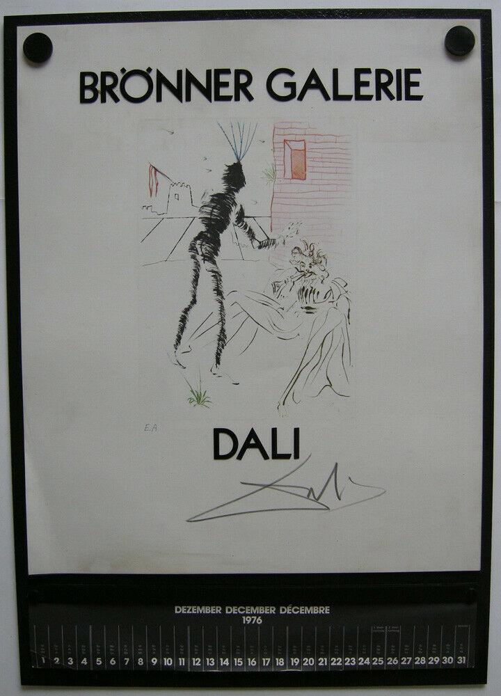 Salvador Dali Wandkalender Shakespeare Galerie Brönner 1976 Surrealismus