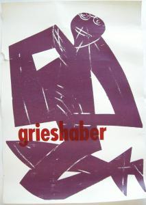 HAP Grieshaber Knieender Pan Orig Plakat Holzschnitt 1963 Düsseldorf