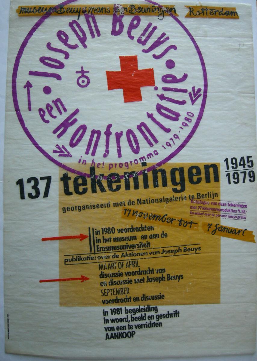 Joseph Beuys 137 tekeningen 1945-1979 Orig Plakat Ausstellung Amsterdam 1981