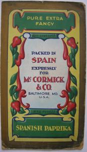 Spanish Paprika for Mc. Cormick Baltimore Entwurf Orig Gouache um 1900 Reklame