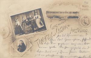 AK Neuwied Trachten und Costüm-Aussstellung gel 1898 Rheinland Pfalz
