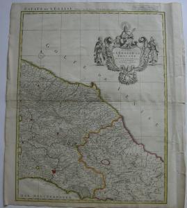 Italia Toscana Estats l'Eglise et Toscane Orig Kupferstichkarte mortier 1720