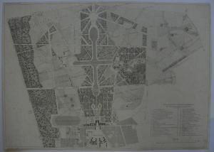 Paln general Parc Versailles Trianon Orig. Pautographie Guvard 1850
