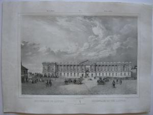 Paris Colonnade du Louvre Orig Lithografie Benoist 1845 Vues de Paris