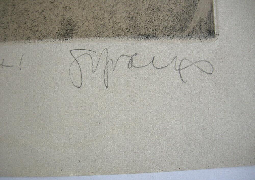 Sepp Frank (1889-1970) Cantus Orig Radierung 1959 signiert Widmung 3