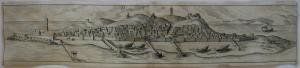 DIU Gujarat Indien Panorama Orig Kupferstich Braun Hogenberg 1572 Asien