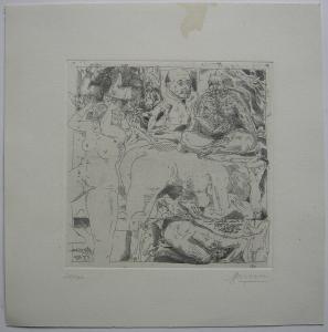 Arwed Gorella (1937-2002) Weibliche männliche Akte Orig Radierung signiert 1967